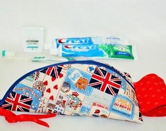 Grande trousse pour plusieurs Brosses à Dents,Pochette brosse à dents,étui multi usage,trousse familiale,drapeau anglais,pochette ustensiles