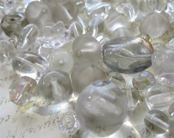 Crystal clear mix Czech glass beads