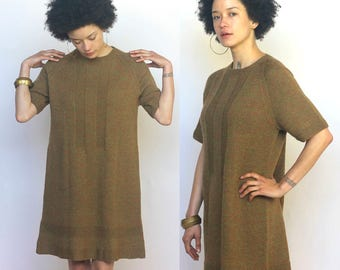 the aster dress -- vintage 60s hand knit dress with aline shape S/M/L