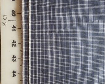 cotton Plaid shirt weight Blue 4yd