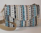 Purse Shoulder Bag Envelope-Style Flap Medium-Sized Bag Tribal Print Pockets