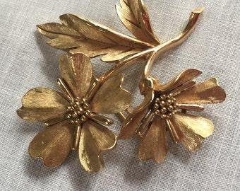 Vintage Crown Trifari Flower Brooch or Pin
