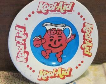 Sweet Little Vintage 1983 Tin Toy Play Koolaid Plate