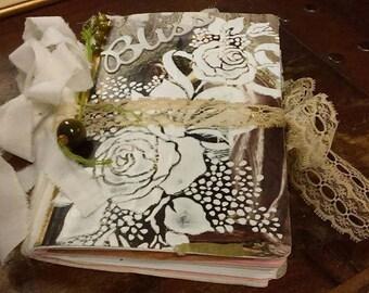 Hopeless Romantic Junk Journal~Journal de Junque~Travelers Notebook~Guest Book~Wedding Planner ~ Memory keeper~Milady Leela