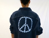 "30% off SPRING SALE The ""Daisy Peace"" Lee Denim Jacket"