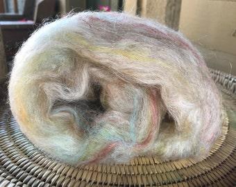 Shetland Lamb Sparkle Batt Spinning Fiber 2.5 ounces