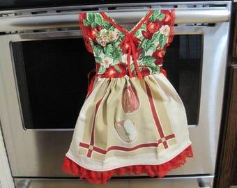 Red Apples Kitchen Towel Dress