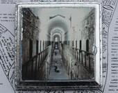 Eastern State, Penitentiary, Philadelphia, Landmark, Abandoned, Prison, Original Art, Miniature, Vaulted Ceiling, 4 x 4, Stone, Arch