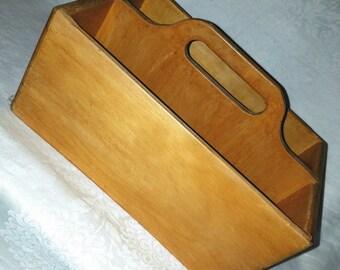 Vintage Wooden Craft Caddy