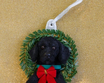 Custom Needle Felt Labrador Retriever Labradoodle Christmas Ornament Hand Made Done in 1-2 weeks!!!