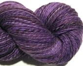 Handspun yarn, Prince, DK weight, 2 ply, 466 yards, violet yarn, purple yarn, hand dyed BFL, wool knitting supplies, crochet supplies