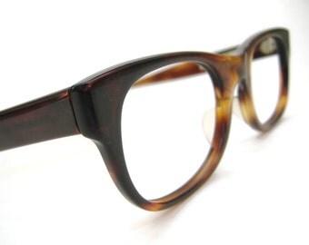 Vintage AO Tortoise Horn Rim French Eyeglasses NOS 48-20