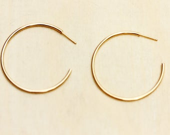 Gold Hoops, Gold Hoop Earrings, Geometric Earrings, Gold Earrings, Simple Hoops, Hoop Earrings, Hoops, Gold Hoops