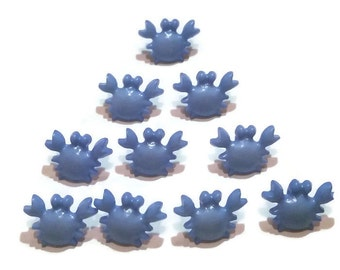 Beach Therapy Blue Crab Buttons - Novelty, Plastic, Nautical