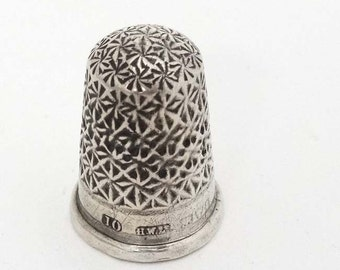 Silver Thimble -  Marked Chester (rare) 1909
