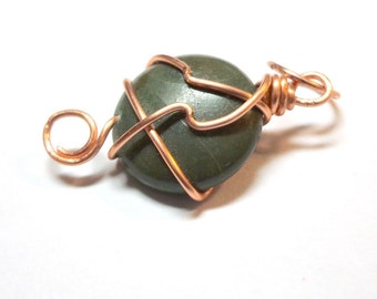 Natural Picasso Jasper Pendant, Jasper Gemstone, Wire Wrapped Stone Copper, Spiritcatdesigns, Necklace Pendant