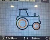 Personalized tractor onesie