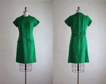 1960s woven wool dress