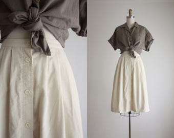 eggshell corduroy skirt