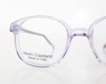 1980s Kids Pastel Purple Eyeglasses Childrens Eyeglasses Optical Frames Light Lilac Clear Round P3 Glasses 80s Eighties Boys Girls Eighties