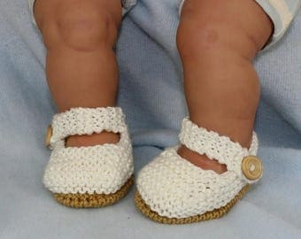 50% OFF SALE madmonkeyknits - Baby Simple Sandals knitting pattern pdf download - Instant Digital File pdf knitting pattern