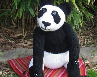 50% OFF SALE knitting pattern digital pdf download - Gi-Gi the Giant Giant Panda toy pdf superfast knitting pattern