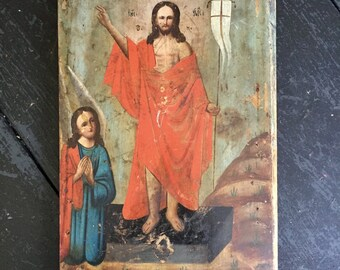 Antique French Oil on Board 1800,
