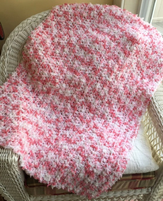 Crochet Afghan Patterns With Super Bulky Yarn : crochet BULKY fluffy baby afghan blanket wrap shawl swaddle