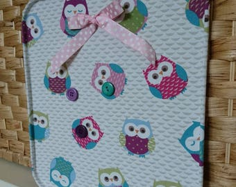 Owls Memo magnet board with 3 x button magnets