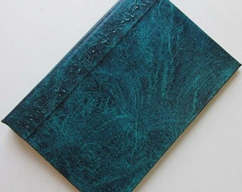Refillable Journal Handmade Distressed Blue Green Original 6x4 navy traveller notebook