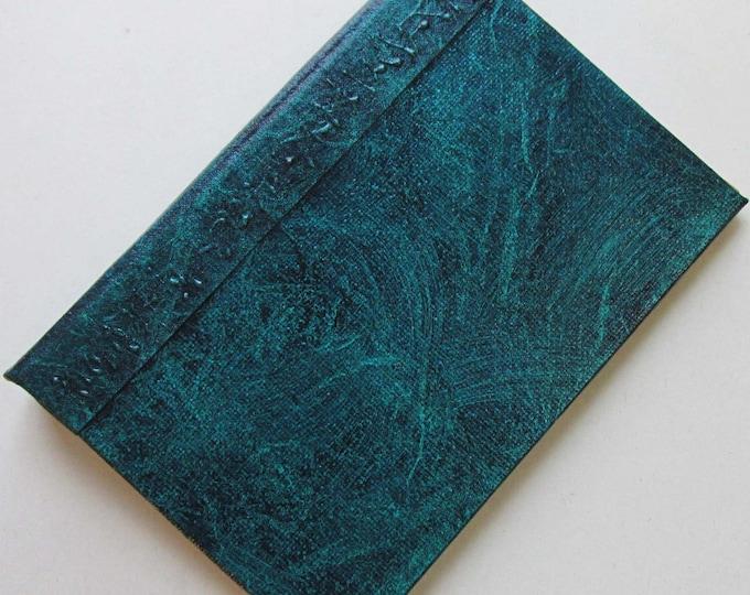 Refillable Journal Handmade Distressed Blue Green Original 6x4 navy traveller notebook