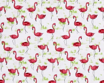 Christmas Michael Miller Fabric Flamingo Flock, Choose your cut
