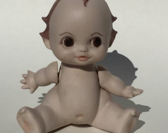 Vintage Ceramic Baby Doll Figure