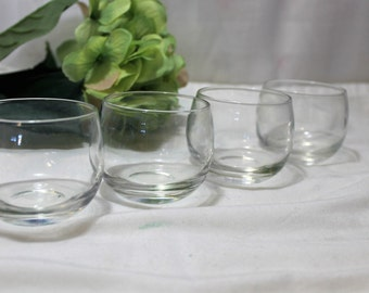 Set of 4 Mad Men Style Roly Poly 4 oz. Cocktail Glasses