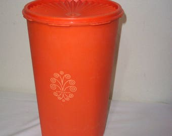 Tupperware Canister Large Snack Keeper Retro Orange