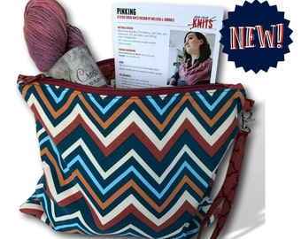 """On Point - A NEW! """"Just Add Needles"""" Knitting Kit- Limited Edition Project Bag, Yarn & Cowl Pattern"""