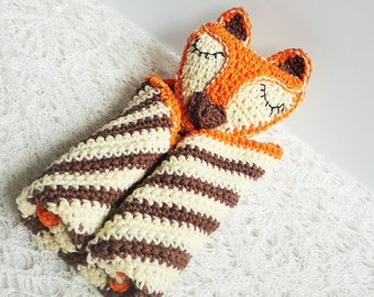 Fox Baby Blanket - Fox Baby Lovey - Fox Security Blanket - Crochet Fox Blanket - Fox Gift - Baby Shower Gift - Gift for Baby - Fox Decor