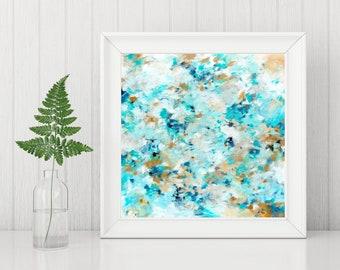 Abstract Art Printable - Abstract Art Print - Abstract Painting Print - Instant Download - Square Art Print - Expressionist Art - 8x8 10x10