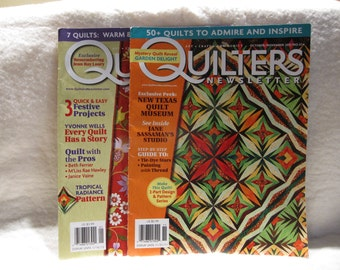 Quilters Newsletter magazine double issue, tropical radiance quilt pattern, plus more