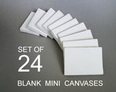 Lot of 24 - FREE SHIPPING - ACEO mini canvas - 2.5x3.5 artist canvases - miniature blank canvas - tiny art supply - aceo painting - diy art