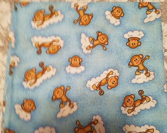 Blue Monkey Fabric