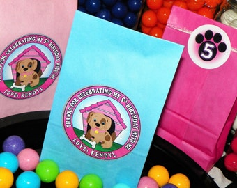 Puppy Dog Party Favor Goody Bags. Dog Birthday Party Treat Bags. Puppy Birthday. Dog Favor Bags. Kids Puppy Party.  Doggy Party Set of 10