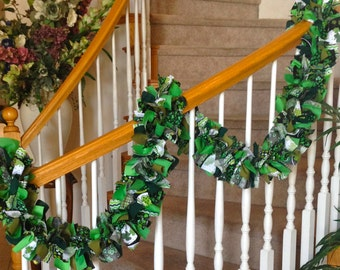 St. Patricks Garland with out Ornaments,St Patricks day Decoration,Party Decoration,Fabric Garland,St. Patricks Garland,Party Decoration