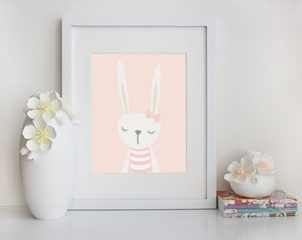Bunny Wall Art - Digital Nursery - Downloadable Print