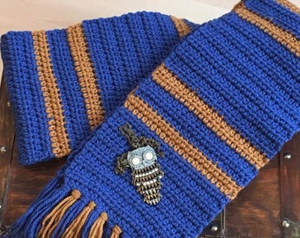 RAVENCLAW SCARF BOOK Colors Harry Potter Inspired Blue Bronze Newborn Baby Child Adult Photo Prop Costume Cosplay Luna Lovegood Quidditch