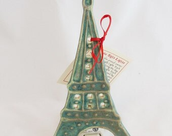 Eiffel Tower Ceramic Nite Lite Night Light
