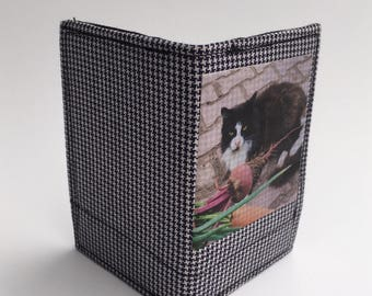 Small bifold wallet, bifold wallets, credit card holders, business card holders, thin wallet, fabric wallet, cat wallets