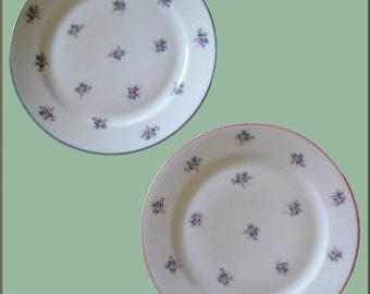6 Vintage F & B BARONET China Plates ~ Made in Bohemia, Czech ~ PRISTINE