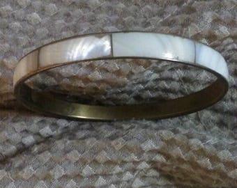Mother of pearl bangle bracelet
