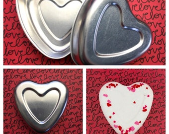 "HEART BATH BOMB Mold, 3"", Metal, Easy to Unmold, Perfect Heart"